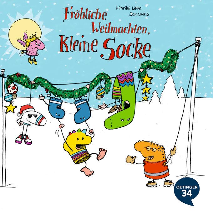 Fröhliche Weihnachten, kleine Socke